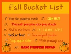 Love, Play, Learn- 2012 Fall Bucket List