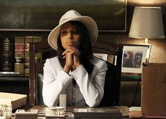 White hat BACK on.  Olivia Pope Wardrobe | Olivia Pope (Kerry Washington), Scandal : ENTpulse