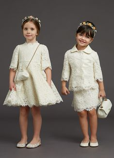 Young Fashion, Girl Fashion, Baby Ballerina, Dolce And Gabbana Kids, Tea Party Hats, Girls Dresses, Flower Girl Dresses, Preppy, Kids Outfits