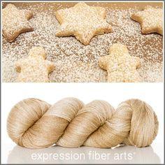 Expression Fiber Arts, Inc. - POWDERED SUGAR COOKIES YAK SILK LACE YARN - sweet honey/tan semi-solid
