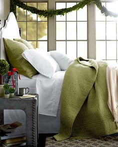 Greet holiday guests with our soft and lightweight hand-stitched quilt.