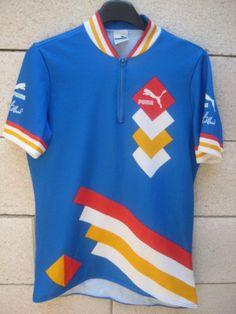 VINTAGE Maillot cycliste GREG LEMOND Puma cycling shirt