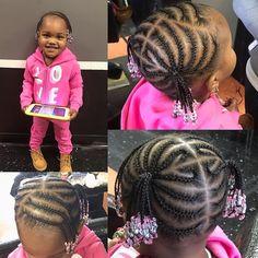 "Janai on Instagram: ""😍😍😍😍 when your client is only 2 and sat like a big girl 🙌🏽 #karibbeankinks #teamkinks #janai.stylez #cornrows #braids #kidscornrows…"" Black Toddler Girl Hairstyles, Toddler Braided Hairstyles, Toddler Braids, Braid Hairstyles, Black Girl Braids, Girls Braids, Conrows, Big, Hair Styles"