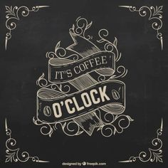 Póster de café retro dibujado a mano Vector Gratis