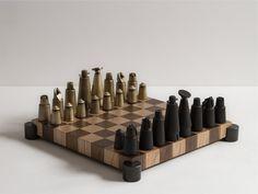 Chess Set – District Eight Chess Set Unique, Leg Cast, Eight, Make Arrangements, Decorative Accessories, Woodworking Projects, Branding Design, Steel, Game Tables