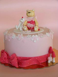 Bear and Bunny cake by bubolinkata, via Flickr
