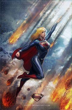 Supergirl Conceptual Illustrations by Fx. Sedhayu Ardian S. Comic Book Characters, Comic Book Heroes, Comic Character, Comic Books Art, Comic Art, Heros Comics, Comics Girls, Dc Heroes, Kal El Superman