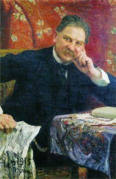 Portrait of J.M. Vengerov, 1915  Ilya Repin Russian Painting, Russian Art, Ilya Repin, Soviet Art, Muse Art, Funky Art, Best Portraits, Paintings I Love, Canvas Pictures