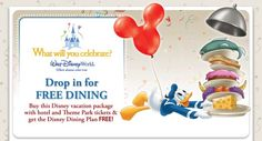 Get Free Dining with your Disney Vacation package this fall!  Request a quote or more information!
