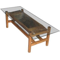 Rustic Antique Doughset Coffee Table /