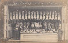 BOSCOMBE - G. FUDGE BUTCHERS, REAL PHOTO SHOP FRONT (55 CHRISTCHURCH RD) | eBay