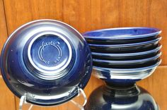 "Homer Laughlin Fiesta Ware Cobalt Blue Serving Bowl 1 Quart 10"" Set 6 Fiestaware in Pottery & Glass, Pottery & China, China & Dinnerware 