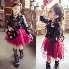 $33.31 (Buy here: https://alitems.com/g/1e8d114494ebda23ff8b16525dc3e8/?i=5&ulp=https%3A%2F%2Fwww.aliexpress.com%2Fitem%2FSpring-girl-boutique-leather-stitching-wine-red-skirt-dress-Korean-classic-PU-false-two-Princess-Dress%2F32737711439.html ) Spring girl boutique pu leather stitching wine red dress Korean classic PU leather one-piece princess dress jointed GA-64T001 for just $33.31