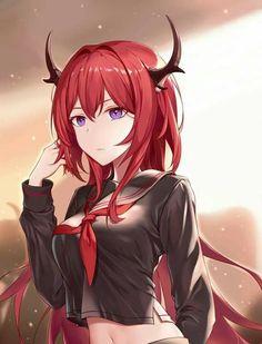 Kawaii Anime Girl, Anime Girl Cute, Beautiful Anime Girl, Anime Art Girl, Anime One, Anime Guys, Female Characters, Anime Characters, Girls With Red Hair