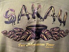 Sakau Tee Shirt Sm Brown Hawaiian Pure Micronesaian Power Plant Leaves Drug #hawaiian #hawaiianshirt #micronesia