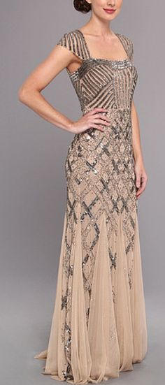 Embellished gown by Adrianna Papell                                                                                                                                                      More