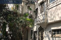 Unit 1 outside looking at castle stained glass window and library nook window. West Hollywood, Stained Glass Windows, Towers, Law Of Attraction, Nook, The Outsiders, Castle, The Unit, Normandie