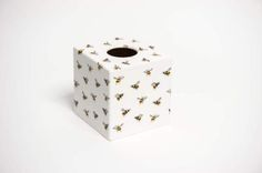 Buzzy Bee Tissue Box Cover wooden handmade by crackpotscrafts