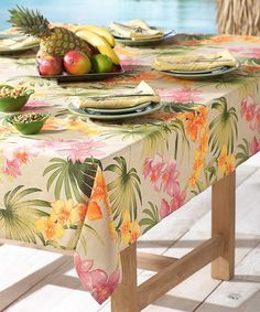 African Orchid Tablecloth