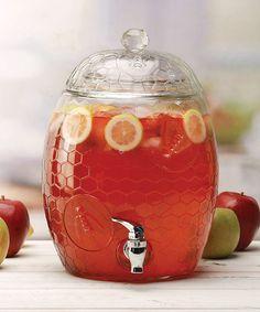 Honey Bee Glass Beverage Dispenser
