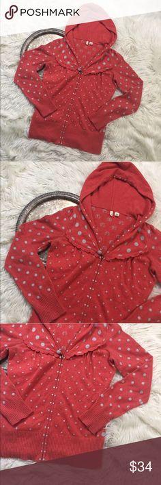 "Anthro MOTH Polka Dot Hoodie Anthropologie MOTH 'polka dot hoodie', women's size M.   Bust 36"" length 24.5"" small mark on underside of hood, please see last photo. Anthropologie Sweaters"