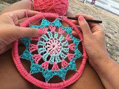 Crochet Earrings Pattern, Crochet Mandala Pattern, Crochet Stitches Patterns, Crochet Designs, Stitch Patterns, Crochet Wall Art, Crochet Wall Hangings, Crochet Curtains, Wind Chimes