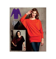 Kwik Sew - 3720 What's not to love about a batwing top! Kwik Sew Patterns, Clothing Patterns, How To Make Clothes, Couture, Top Pattern, Sewing Clothes, Dressmaking, Diy Fashion, Shirts