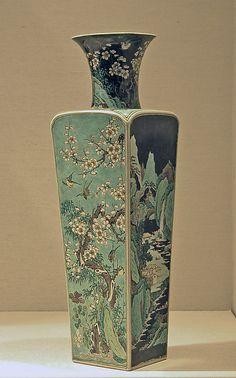 Vase with Alternating Landscape and Floral Scenes - Qing Dynasty, Fine Porcelain, Porcelain Ceramics, Ceramic Vase, Ceramic Pottery, Porcelain Tiles, Chinese Ceramics, Vintage Vases, Ancient China, Chinese Antiques