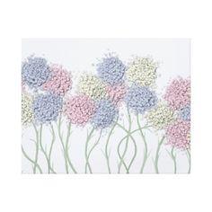 Pastel Cotton Ball Flower Scene. Artist, One Artsy Momma