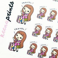 A009 | TRAVEL KEENACHI emotion stickers, Planner Stickers, travel stickers, going out stickers, adventure stickers, emotion stickers