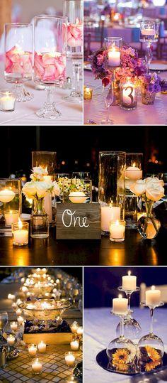 Romantic wedding candlelight decorations ideas (28)