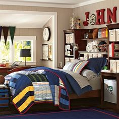 Stuff-Your-Stuff Classic Bed System (Bed, Towers, Shelves + Desk) #potterybarnteen