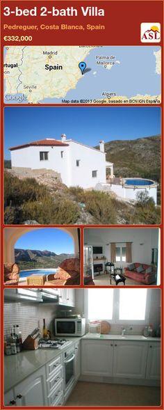 3-bed 2-bath Villa in Pedreguer, Costa Blanca, Spain ►€332,000 #PropertyForSaleInSpain