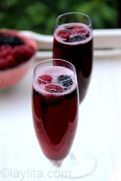 ml bottle of champagne and 80 ml (about 1/3 cup) of crème de cassis