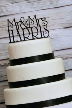 Cakes not that flash - but love the topper (I'm going to be Mrs Harris - so I couldn't not pin it!)