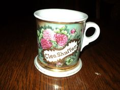 Antique Large Hand Painted Shaving Mug from Late 1800's China from Germany | eBay