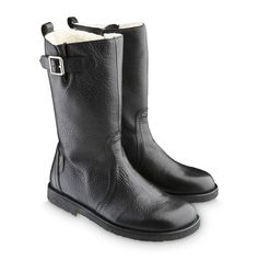 ANGULUS Sort 2504 Langskaftet vinterstøvle med spænde. | Gratis fragt over 745 kr.