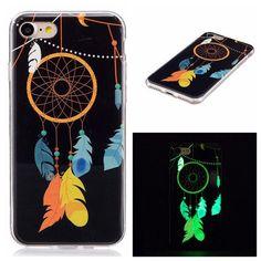 a2987ca750 Fashion Luminous Case For iphone 7 7 Plus Funda Cute Embossed Cartoon  Pattern Clear Ultra Thin Soft TPU Skin Cover Shell Case