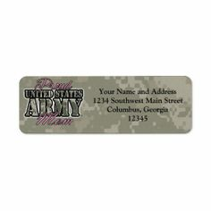 Proud US Army Mom Return Address Label This site is will advise you where to buyDiscount Dealslowest price Fast Shipping and save your money Now! Army Mom, Us Army, Yes I Can, Mother's Day Greeting Cards, Military Veterans, Mothers Day Cards, Return Address Labels, Label Design, Messages