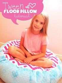 My Cotton Creations: Tween's Room Floor Pillow