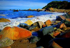 Pebbly Beach, Block Island, R.I. USA.  Photo by Logan Darrow