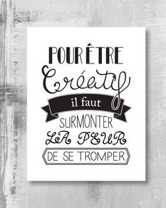 Affiche à imprimer – Citation créative Some Quotes, Words Quotes, Sayings, Positive Attitude, Positive Quotes, Typographie Logo, Quote Citation, Web Design, French Quotes