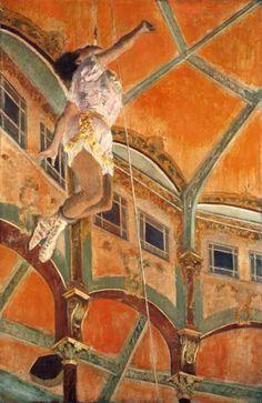 Bild:  Edgar Degas - Miss La La im Zirkus Fernando