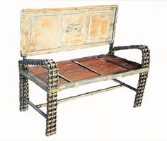 Ford Truck Tailgate Bench - Recycled Salvage Design http://www.artpal.com/recycledsalvage #recycledsalvagedesign #recycledsalvage