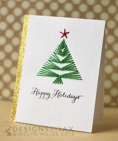 DIY Christmas Card Ideas- Handmade Christmas Cards – Christmas Celebration – All about Christmas – Christmas DIY Holiday Cards Homemade Christmas Cards, Christmas Cards To Make, Christmas Greeting Cards, Christmas Greetings, Homemade Cards, Handmade Christmas, Holiday Cards, Christmas Diy, Easy Diy Xmas Cards