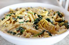 Spinach Artichoke Pasta from The Pioneer Woman