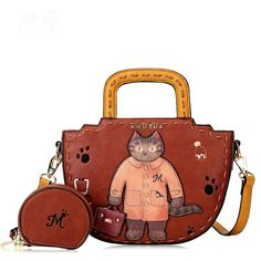 Inspired by the Braccialini Italian Leather Dr Muyu Kitty Tote - LIMIT – Maizys Boutique Tote Handbags, Purses And Handbags, Betty Boop Purses, Mr Cat, Luxury Purses, Cat Bag, Change Purse, Shoulder Handbags, Shoulder Bags