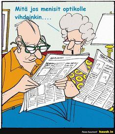 old people cartoon Optometry Humor, Optometry Office, Old People Cartoon, Eye Jokes, Eye Exam, Mundo Comic, Eye Doctor, Perfect Eyes, Get Well Cards
