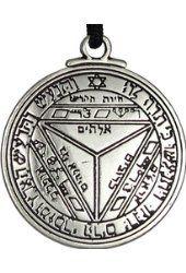 Pentacle of Saturn Talisman Key of Solomon Seal Pendant Hermetic Enochian Kabbalah Pagan Wiccan Jewelry