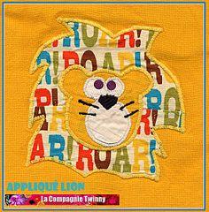 3b617ec3e69f Appliqué lion pour BB2 Tissu À Pois, Gabarit, Compagnie, Astuces, Faire Soi